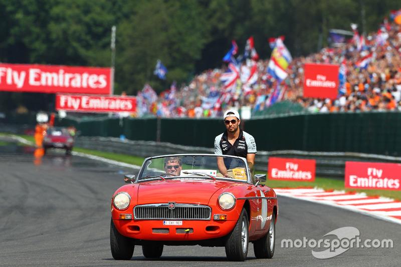 Sergio Perez, Sahara Force India F1 nella sfilata dei piloti