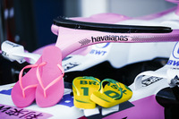 Havaianas sponsorship on the Force India
