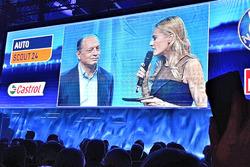Fréderic Vasseur, Sauber F1 Teamleiter und CEO, mit moderatorin Christa Rigozzi
