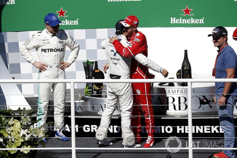 Себастьян Феттель, Ferrari, Валттері Боттас, Mercedes AMG F1, Рубенс Баррікелло, Феліпе Масса, Williams