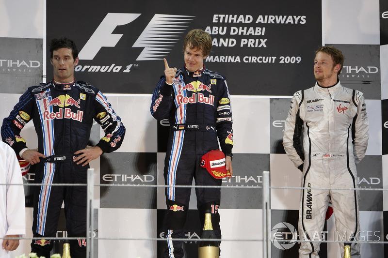 2009. Подіум: 1. Себастьян Феттель, Red Bull - Renault. 2 Марк Веббер, Red Bull - Renault. 3. Дженсон Баттон, Brawn-Mercedes