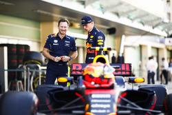 Christian Horner, director Red Bull Racing, Max Verstappen, Red Bull
