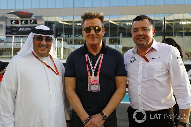 Sheikh Mohammed bin Essa Al Khalifa, Gordon Ramsay y Eric Boullier, McLaren