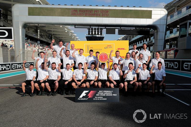 Mercedes AMG F1 y el premio al pit stop más rápido.