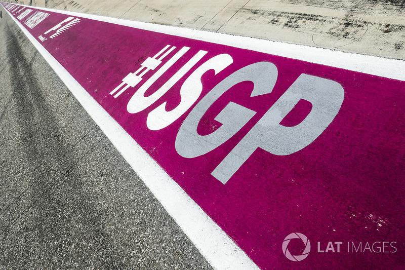 Лого Гран Прі США на піт-лейн