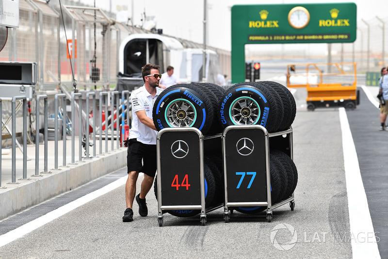 Mercedes AMG F1 mekanikeri, Pirelli lastikleri