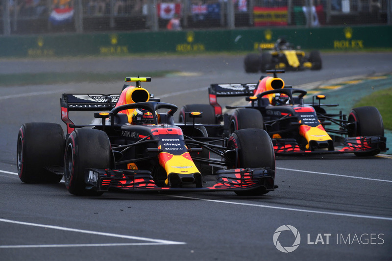 Max Verstappen, Red Bull Racing RB14 ve Daniel Ricciardo, Red Bull Racing RB14