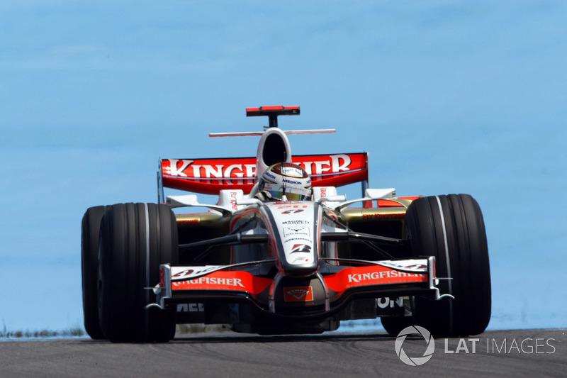 2. Adrian Sutil, 128 GPs (2006-2011, 2013-2014). Seu melhor resultado é o 4° (Italia 2009).