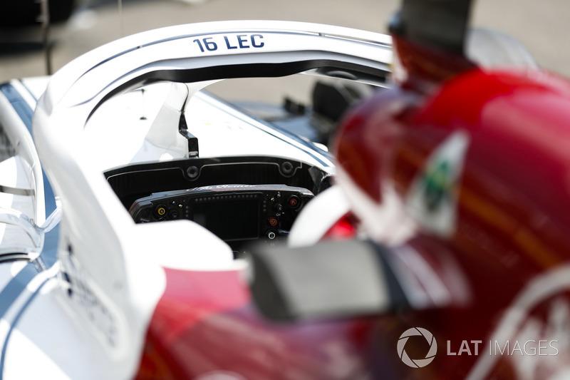 Charles Leclerc, Sauber C37, cockpit detail