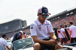 Sergio Perez, Force India, nella drivers parade