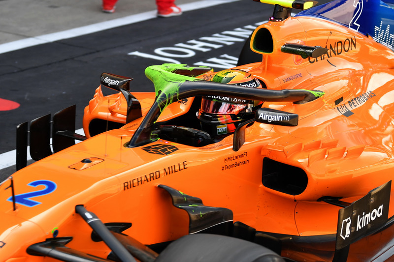 McLaren MCL33 with aero paint on halo