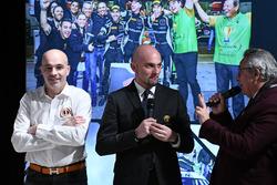 Armando Donazzan, Orange1 Racing eigenaar Giorgio Sanna, Head of Lamborghini Squadra Corse, en Franco Nugnes, Hoofdredacteur Motorsport.com Italië