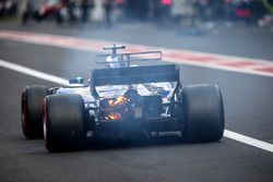 Marcus Ericsson, Sauber C36 retires from the race with a fire