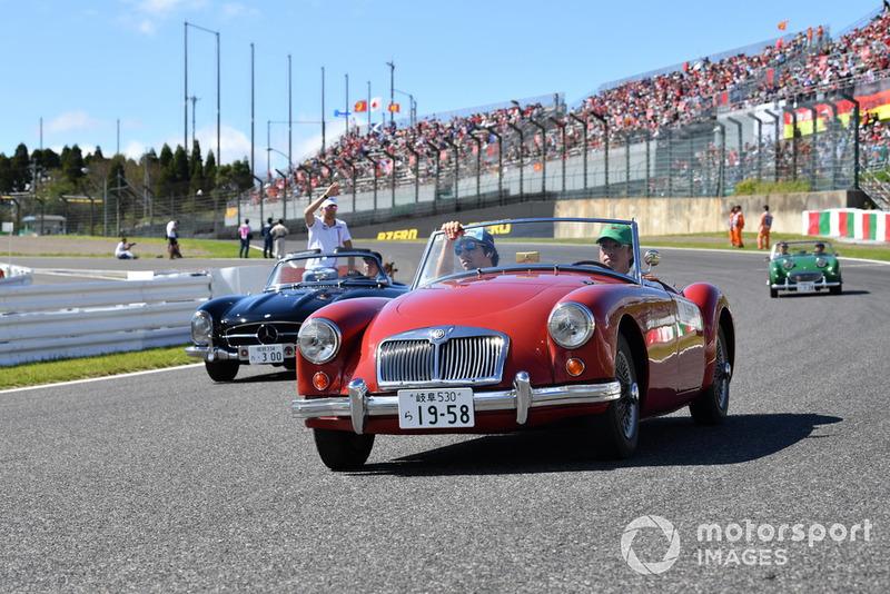 Lance Stroll, Williams Racing lors de la parade des pilotes