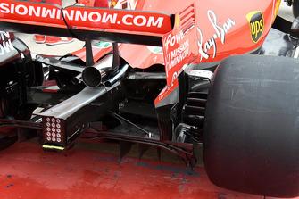 L'arrière de la Ferrari SF71H