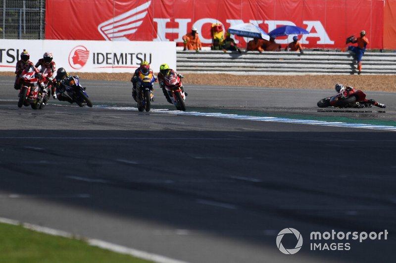 Kritchaporn Kaewsonthi, AP Honda Racing Thailand crash