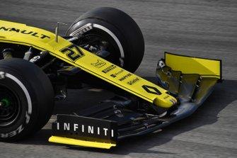 Renault F1 Team R.S. 19, dettaglio dell'ala anteriore