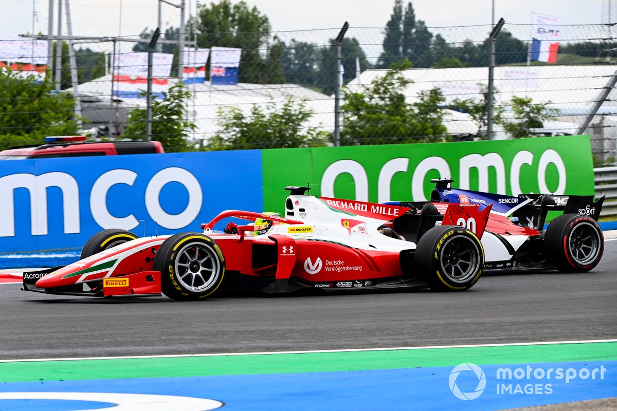 Louis Deletraz, Charouz Racing System and Mick Schumacher, Prema Racing