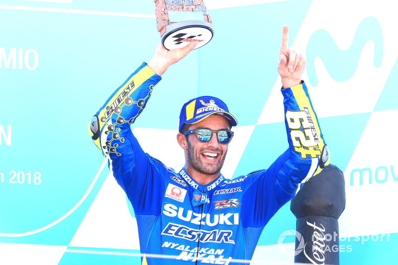 Podium 3: Andrea Iannone, Team Suzuki MotoGP