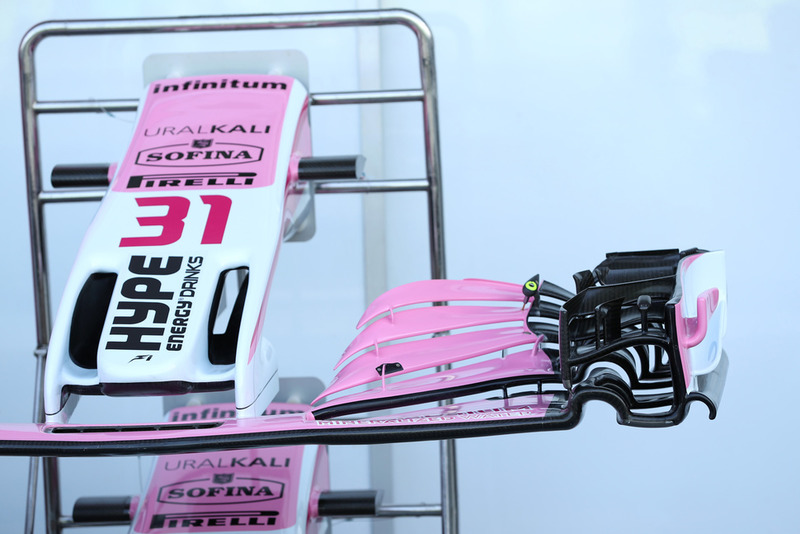 Un aileron avant de Racing Point Force India VJM11