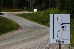 Schikane bei der Rallye Finnland
