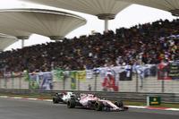 Esteban Ocon, Force India VJM10, leads Felipe Massa, Williams FW40