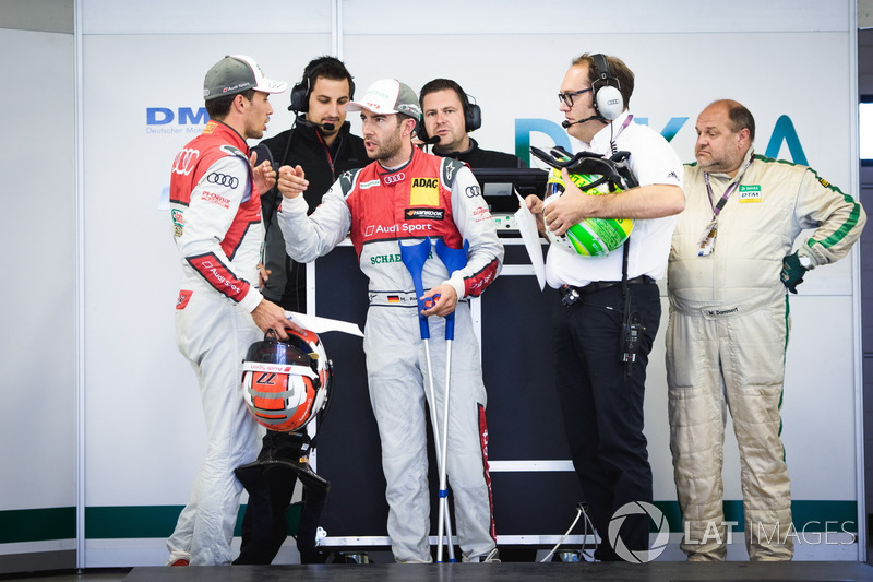 Лоік Дюваль, Audi Sport Team Phoenix, Audi RS 5 DTM, та Майк Роккенфеллер, Audi Sport Team Phoenix,