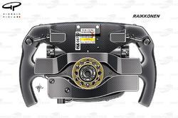 Ferrari SF70H, rear view of Kimi Räikkönen's steering wheel