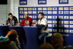 Edoardo Mortara, Mercedes-AMG Team HWA, Mercedes-AMG C63 DTM; Mike Rockenfeller, Audi Sport Team Phoenix, Audi RS 5 DTM; Timo Glock, BMW Team RMG, BMW M4 DTM