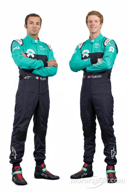 Luca Filippi ve Oliver Turvey, NIO Formula E team