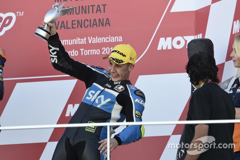 Podium: 3. Andrea Migno, SKY Racing Team VR46, KTM