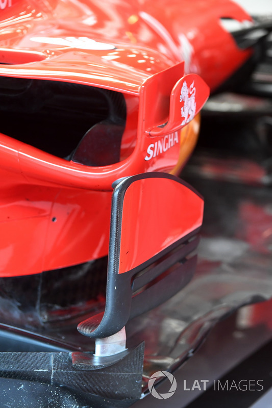 Ferrari SF70H sidepod and barge board detail
