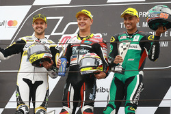 Podium: race winner Dominique Aegerter, Kiefer Racing, second place Thomas Luthi, CarXpert Interwett