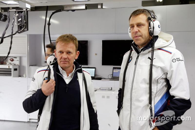Stefan Reinhold, jefe de equipo de BMW Team RMG y Bart Mampey, jefe de equipo de BMW Team RBM