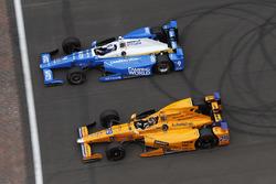 Scott Dixon, Chip Ganassi Racing Honda, Fernando Alonso, Andretti Autosport Honda