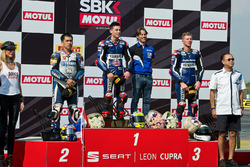 Podium: 1. Federico Caricasulo, GRT Yamaha Official WorldSSP Team; 2. Decha Kraisart, Yamaha Thailand Racing Team; 3. Niki Tuuli, Kallio Racing