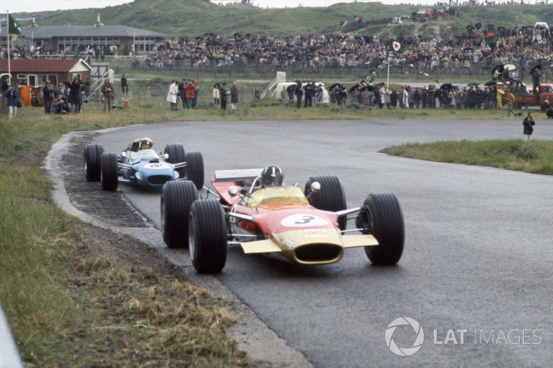 Graham Hill,Lotus 49B-Ford ve Jackie Stewart, Matra MS10-Ford