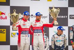 Podium: 2. Andreas Mikkelsen, Anders Jäger, Citroën C3 WRC, Citroën World Rally Team