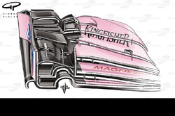 Force India VJM10 front wing