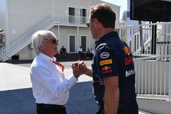 Почетный председатель FOM Берни Экклстоун и руководитель Red Bull Racing Кристиан Хорнер