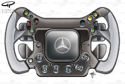 McLaren MP4-23 steering wheel