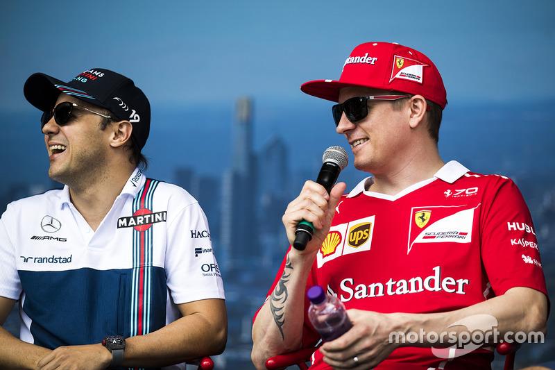 Felipe Massa, Williams; Kimi Räikkönen, Ferrari