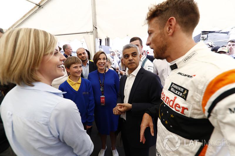 Сьюзі Вольфф, Channel 4 F1, Клер Вілльямс, Williams, мер Лондона Садік Хан, Дженсон Баттон, McLaren,