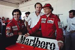 Alain Prost, Ron Dennis, Niki Lauda