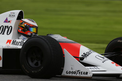 Stoffel Vandoorne, Test and Reserve Driver, McLaren, in the Alain Prost McLaren MP4/5 Honda