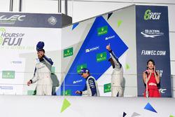 المنصة: المركز الثالث رقم 78 كاي سي إم جي بورشه 911 آرإس آر: كريستيان ريد، وولف هينزلر، جويل كاماثيا