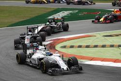 Felipe Massa, Williams FW38 Mercedes; Fernando Alonso, McLaren MP4-31 Honda; Nico Hülkenberg, Force