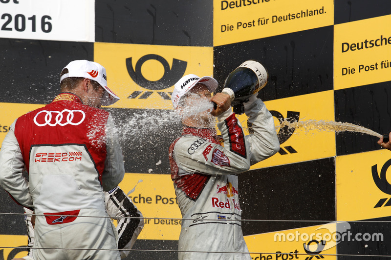 Podium: Adrien Tambay, Audi Sport Team Rosberg, Audi RS 5 DTM; Mattias Ekström, Audi Sport Team Abt