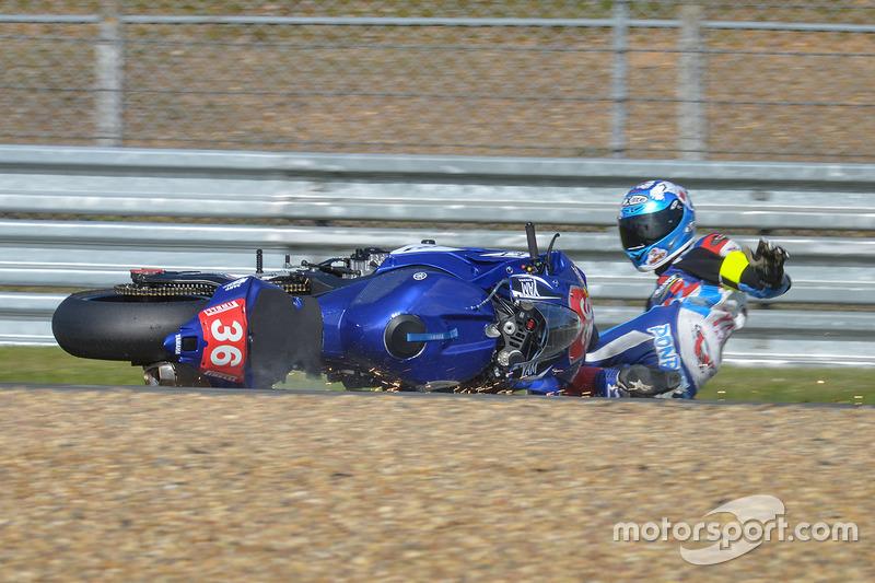 Yamaha #36 in difficoltà