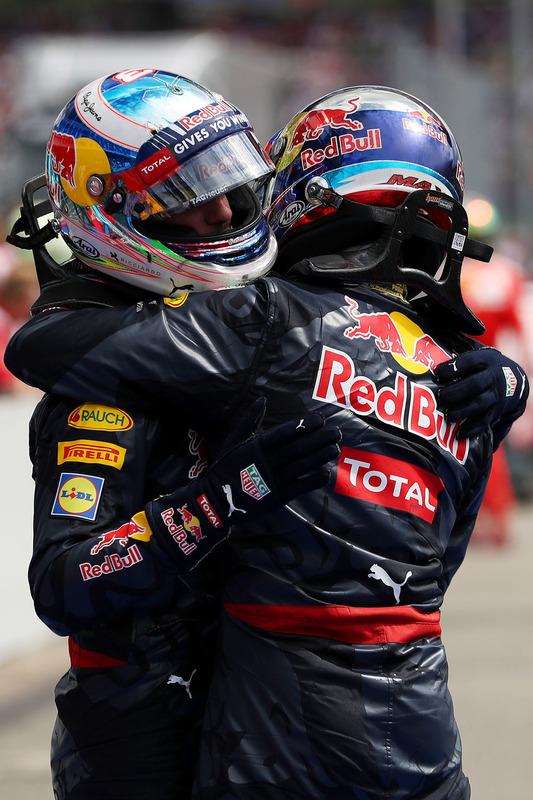 Parc Fermé: 3. Max Verstappen, Red Bull Racing; 2. Daniel Ricciardo, Red Bull Racing